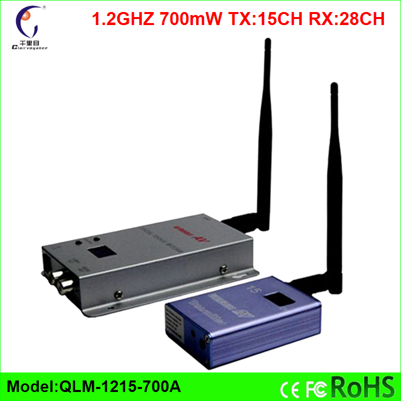 ФОТО 2016 Hot 1.2ghz 12v Tx 15ch Rx 28ch 700mw Fpv 2km Long Range Wireless Audio Video Transmitter And Receive Kit Free Shipping