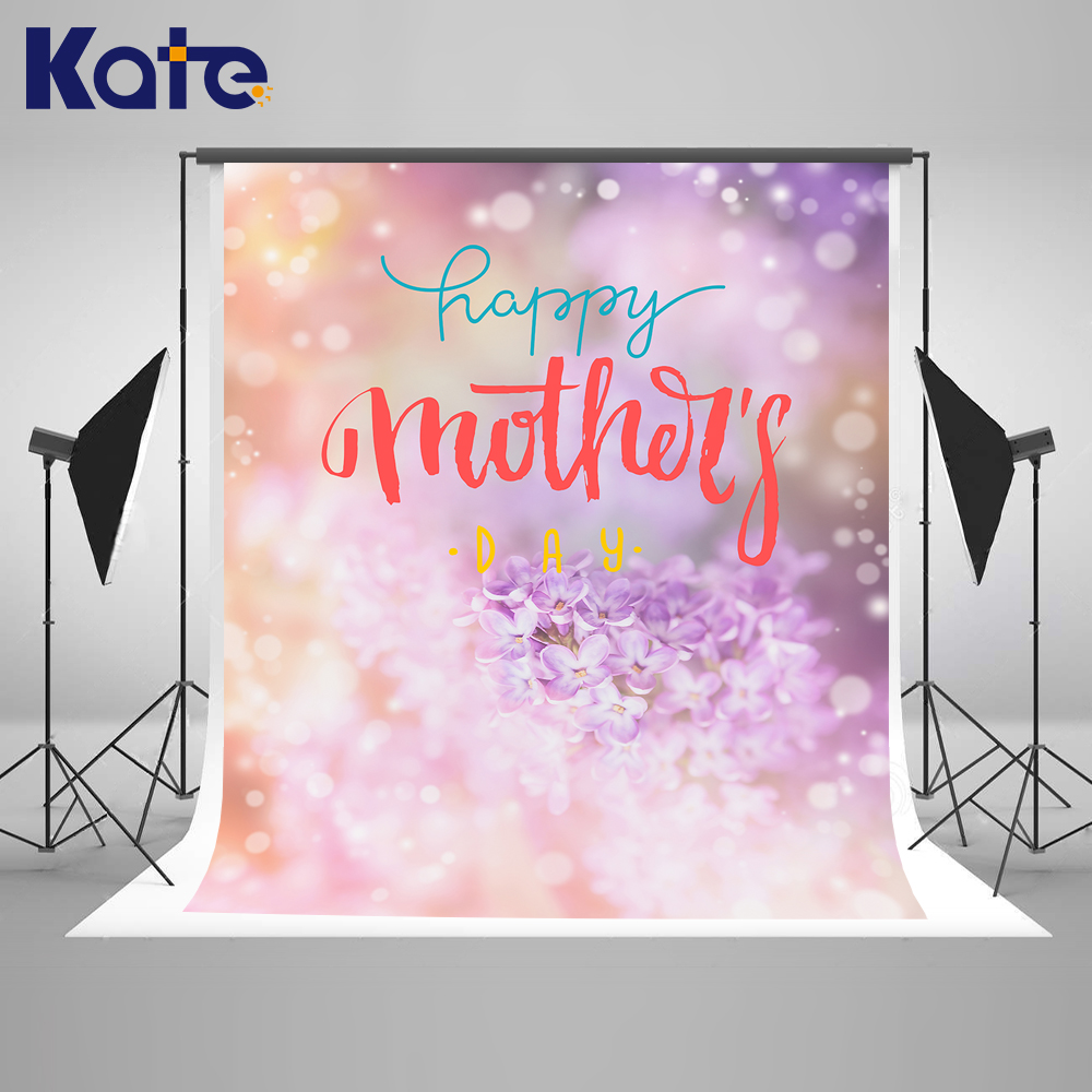 Kate 10x10ft Happy Mothers Day Photography Backdrop Flower Romantic Background Stage Sparkle Photo Background our kate