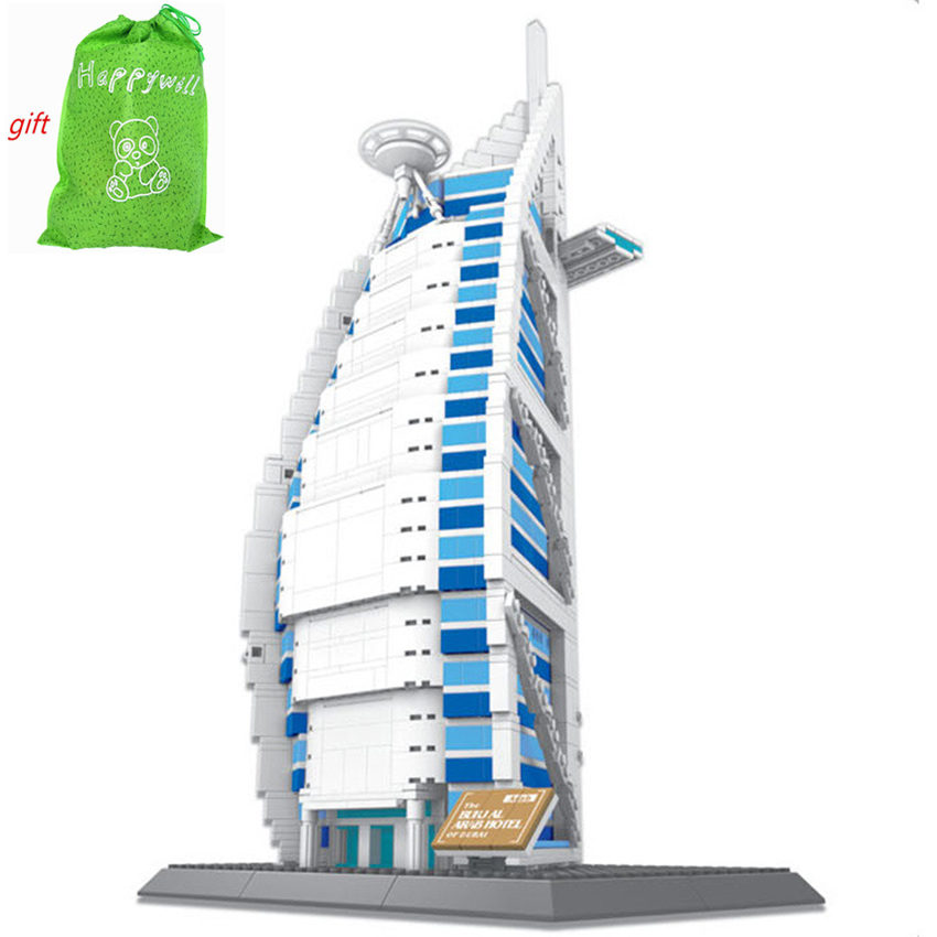 Happywill Free Shipping WANGE DIY The Burj Al Arab Hotel Of Dubai For Children's Educational Construction Toy Blocks 8018 vijay mahajan the arab world unbound tapping into the power of 350 million consumers