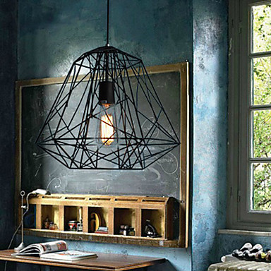 цена на Luminaire Hive Loft Style Vintage Industrial Pendant LIghts Lamp With Creative Black Iron Painting