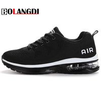 Bolangdi 2018 New listing hot sales Summer and Autumn Breathable Flying air cushion shoes men and women sneakers running shoes