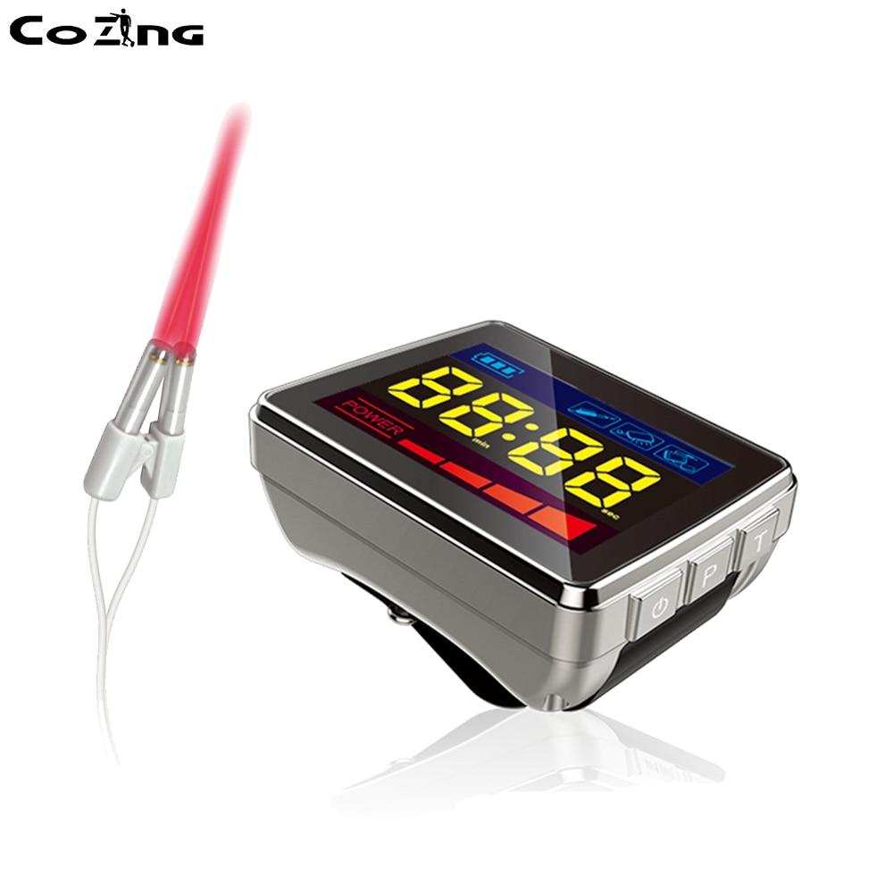 Сердечно сосудистой системы лечебный Лазерная часы для диабет ниже кровяное давление холодной лазерной терапии