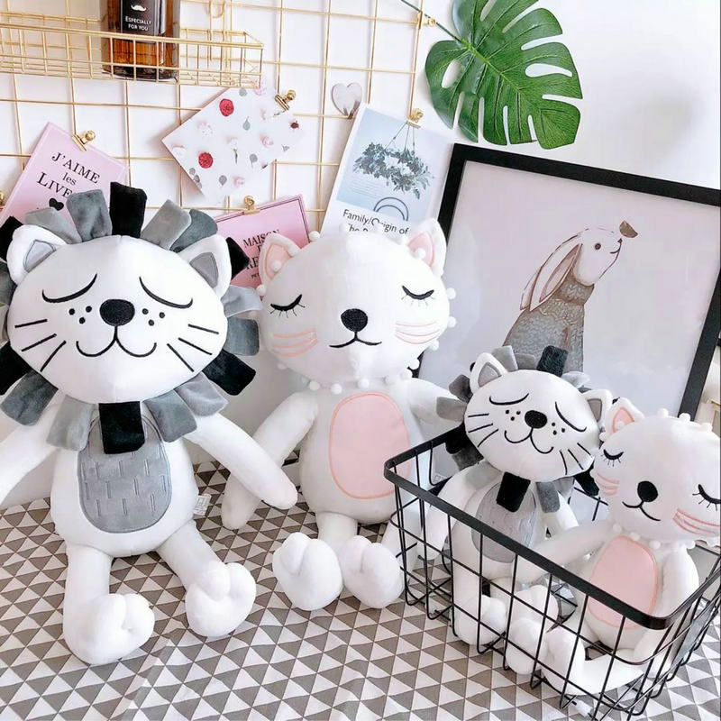 40cm Kawaii Plush Cat Lion Doll Toys For Children Room Decor Stuffed Plush Toys Kids Baby Appease Doll Christmas Gift стоимость