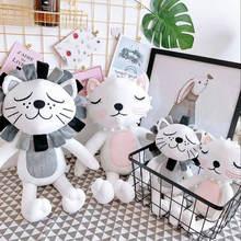 40 см Kawaii плюшевая кошка Лев Кукла игрушки для детской комнаты декор Мягкие плюшевые игрушки для детей строительный Рождественский подарок