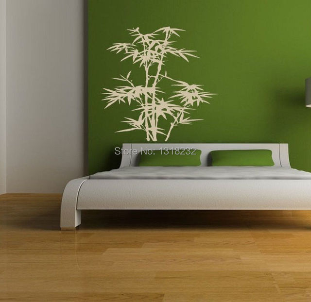 Free Shipping Bamboo Vinyl Wall Decal Plant Japanese Mural Art - Japanese wall decals