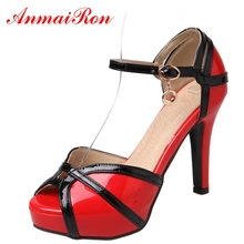 ANMAIRON New Fashion Women Super High Heel Sandals  Sandalias De Mujer Verano 2018 Basic Casual Big Size 34-43 LY329