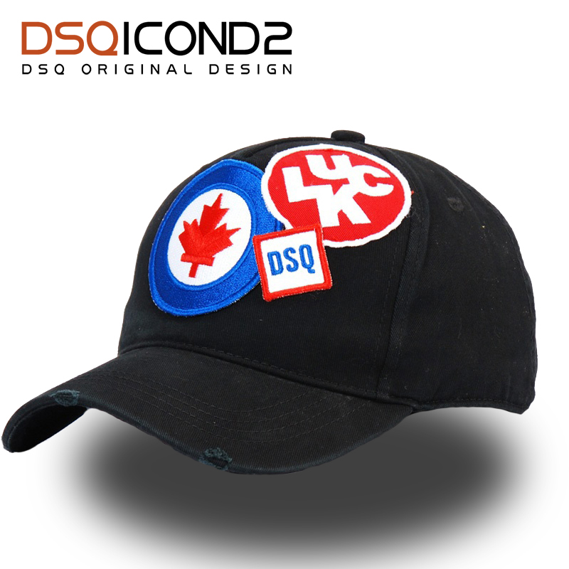 DSQICOND2 Cotton Brand   Baseball     Caps   Casquette Homme Snapback   Cap   Letter Patch DSQ Dad Hat for Men Women Bone Gorras Trucker   Cap
