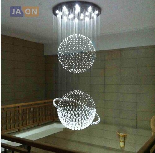 Led g10 Moderne En Acier Inoxydable Cristal Globe LED Lampe. LED Lumière. plafonniers. LED Plafonnier. plafond Lampe Pour Escalier Hall