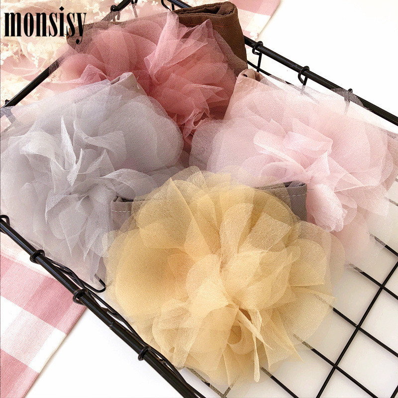 Monsisy Lolita Lace Gril Children Coin Purse Cute Flower Change Purse Wallet Kids Girl Baby Handbag Coin Pouch Small Bag G