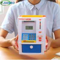 Creative Children S Count And Access Automatic Roll Money Password Safe Box ATM Deposit Tank