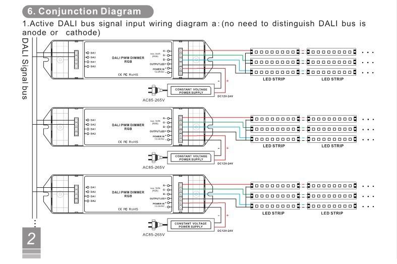US $27.44 29% OFF Hot DC12 24V CV DALI Led Dimmer 1CH/3CH/4CH Dimming/RGB/RGBW on