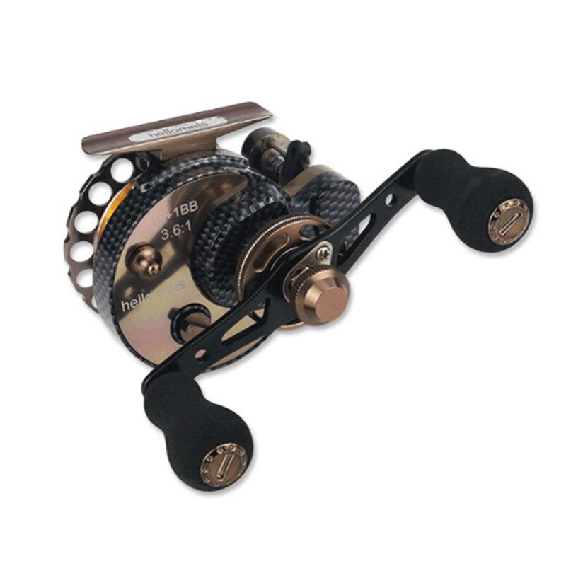 Yumoshi nouveau FBE 10 + 1BB 2.6: 1 65 MM moulinet de pêche à la mouche roue de pêche en eau douce/salée moulinets de pêche à la main droite roues de moulinet - 3