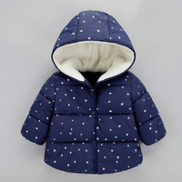 Baby Girls Winter Coat Children Warm Cotton Pad Jackets for Girls Clothing Star Print jacket Clothes Baby Girls Kids Fashion