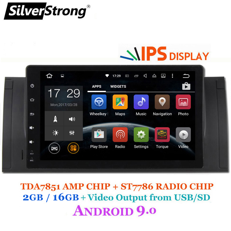 SilverStrong NEW IPS ANDROID 9 0 Car Player Android for BMW E53 X5 E39 M5 1DIN