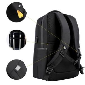 Image 2 - Sac à dos dordinateur portable 15.6 pouces étanche pour hommes, sacoche pour ordinateur portable, recharge externe USB, cartable décole