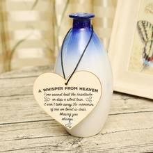 Placa de corazón de madera, recuerdo conmemorativo del cielo, un Whisper del cielo