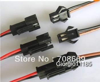 100pcs 2 Way JST EL-2P Multipole Connectors With  Wire 2*140mm