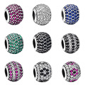 WYBEADS 100% 925 Sterling Silver Charms Pave Cubic Zircon European Charm For Snake Chain Bracelet Bangle Original Jewelry Making