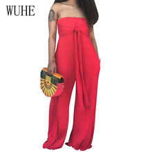 WUHE Summer Halter with Pocket Loose Wide Leg for Women Sexy Off Shoulder Sleeveless Solid Playsuit Female Casual Street Wear