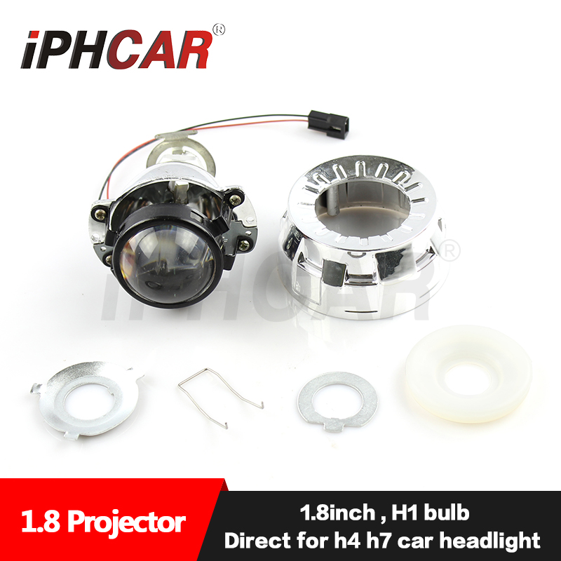Free Shipping IPHCAR LHD 46mm or 56mm Mini Bi-xenon Projector Lens H1 H4 H7