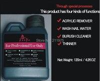 120ML Nail Art Remover Wash Nail Water Brush Cleaner Acrylic JunYu Nail Gel Remover Fragrant Smell