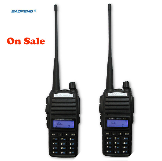 2pcs Walkie Talkie Pair UV 82 Dual band UHF VHF Portable Radio Scanner For 2 two