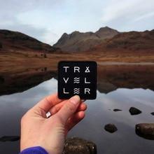 Странник путешественник Исследуйте патч природа путешественник путешествия Странник путешественник нашивка, значок, аппликация