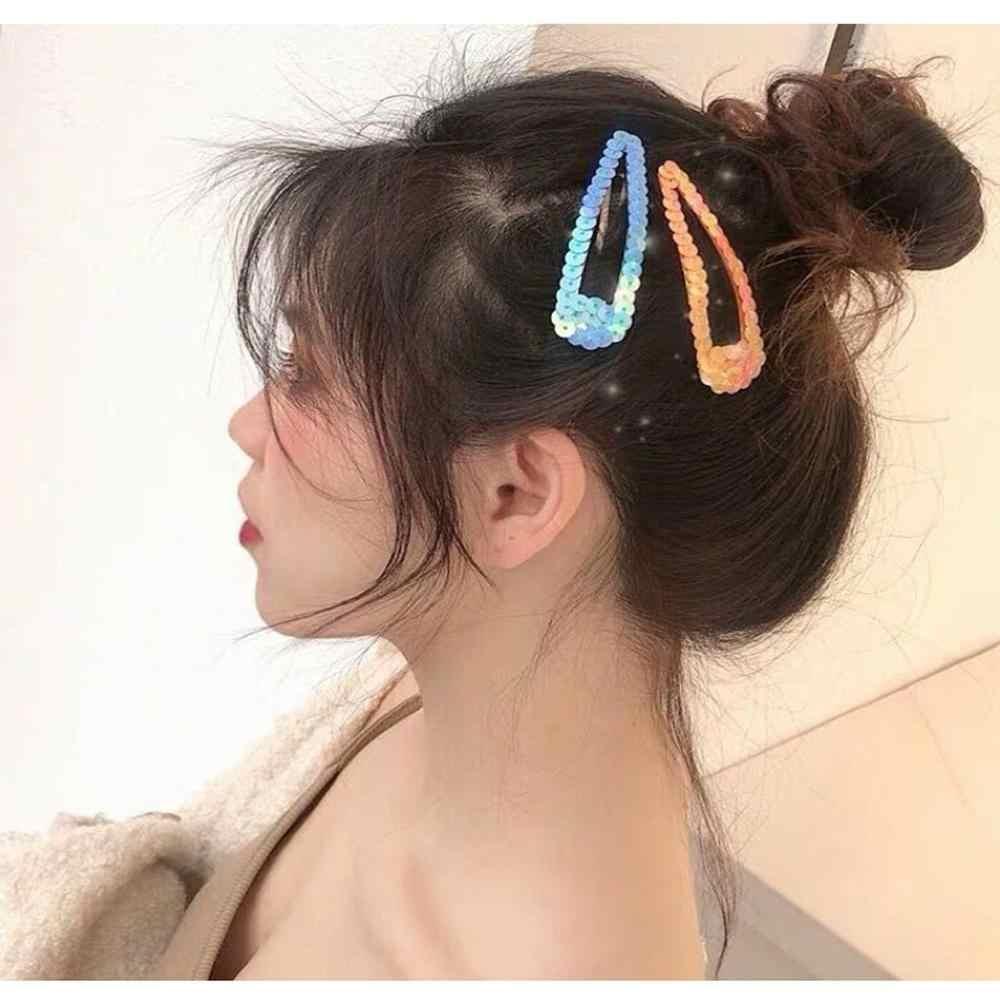 M MISM INS Fatti A Mano di Paillettes Colorate BB Barrettes della Clip di Modo Delle Donne Laser Hairclips Dei Capelli Spilli Ragazze Bling Accessori Per Capelli