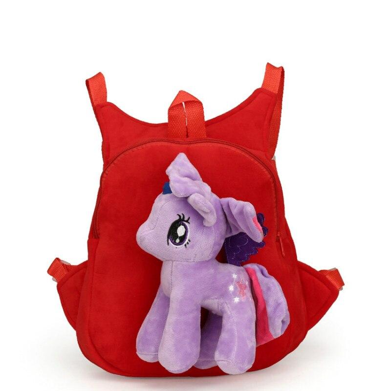 Cute-Soft-Cartoon-Kindergarten-Children-Plush-Backpack-Pony-Plush-Toy-Preschool-Baby-Bag-Gift-for-Kids-1-5-Years-Old-1pc-3