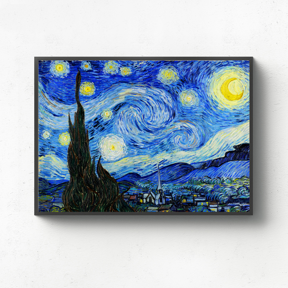 Van Gogh The Starry Night Wall Art Canvas Painting Nordic