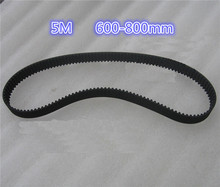 HTD 5M Arc HTD tooth Lenght 600 700 800 mm pitch 5mm Synchronous Timing belt CNC 3D printer Engraving Machine Part Reciprocating