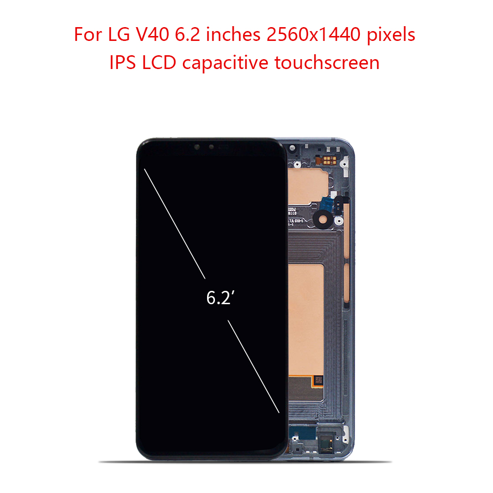 Super AMOLED 6.5 For LG V40 LCD Display Touch Screen Digitizer Assembly For LG V40 ThinQ Display Frame Replacement V40 ScreenSuper AMOLED 6.5 For LG V40 LCD Display Touch Screen Digitizer Assembly For LG V40 ThinQ Display Frame Replacement V40 Screen