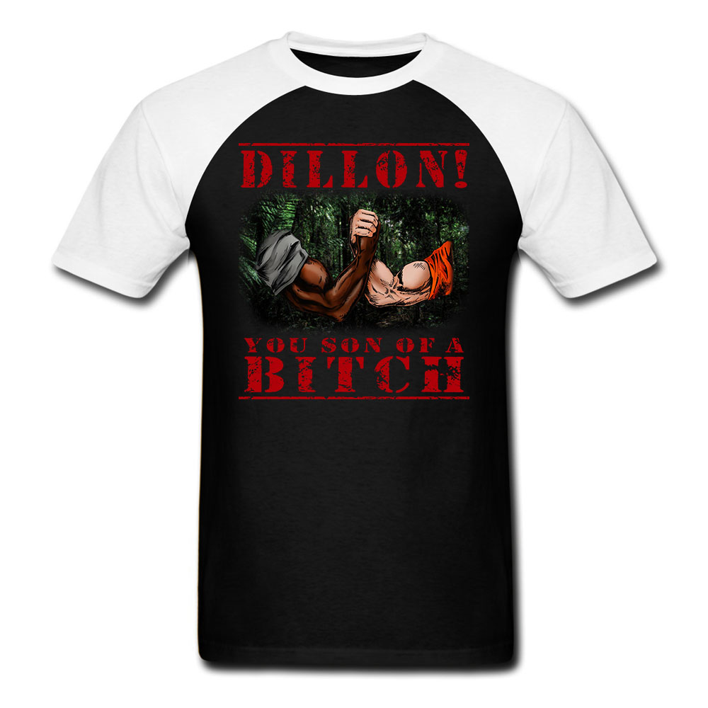 Dillon You Son Of A Bitch 80s Predator Movie Tshirt Tees big size S-XXXL image
