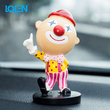 Car Ornaments Clown Doll Resin Cute Decoration Automobiles Interior Decoration Dashboard Toys Gifts For BMW VW Audi Honda(China)