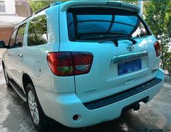 Niepomalowane samochodowe tylne skrzydło SPOILER bagażnika dla Toyota Sequoia 2008 2009 2010 2011 2012 2013 2014 2015 z LED lampa przez EMS