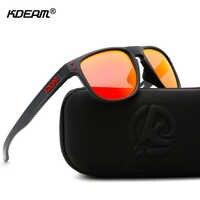 KDEAM High Definition TR90 Sunglasses Polarized Sport Sun Glasses Men Polaroid Lens Athletes' Choice With Case