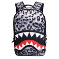 Fashion Leopard Shark Mouth printing backpacks for teenage girls 18 inch women backpack large capacity laptop travel bag bagpack