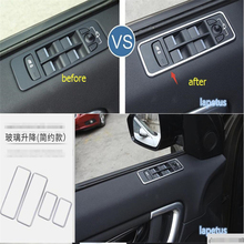 цена на New Style For Land Rover Discovery Sport 2015 2016 2017 ABS Window Lift Switch Mirror Control Button Frame Cover Trim 4 Piece
