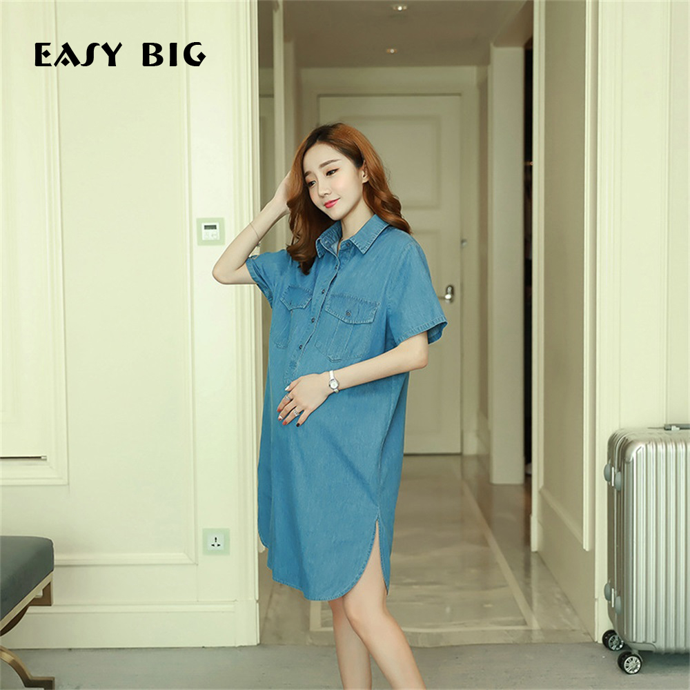 EASY BIG Summer Cotton Maternity Dresses Casual Nursing Dresses Women Pregnant Clothes Knee-Length Pregnancy Clothing MC0044EASY BIG Summer Cotton Maternity Dresses Casual Nursing Dresses Women Pregnant Clothes Knee-Length Pregnancy Clothing MC0044