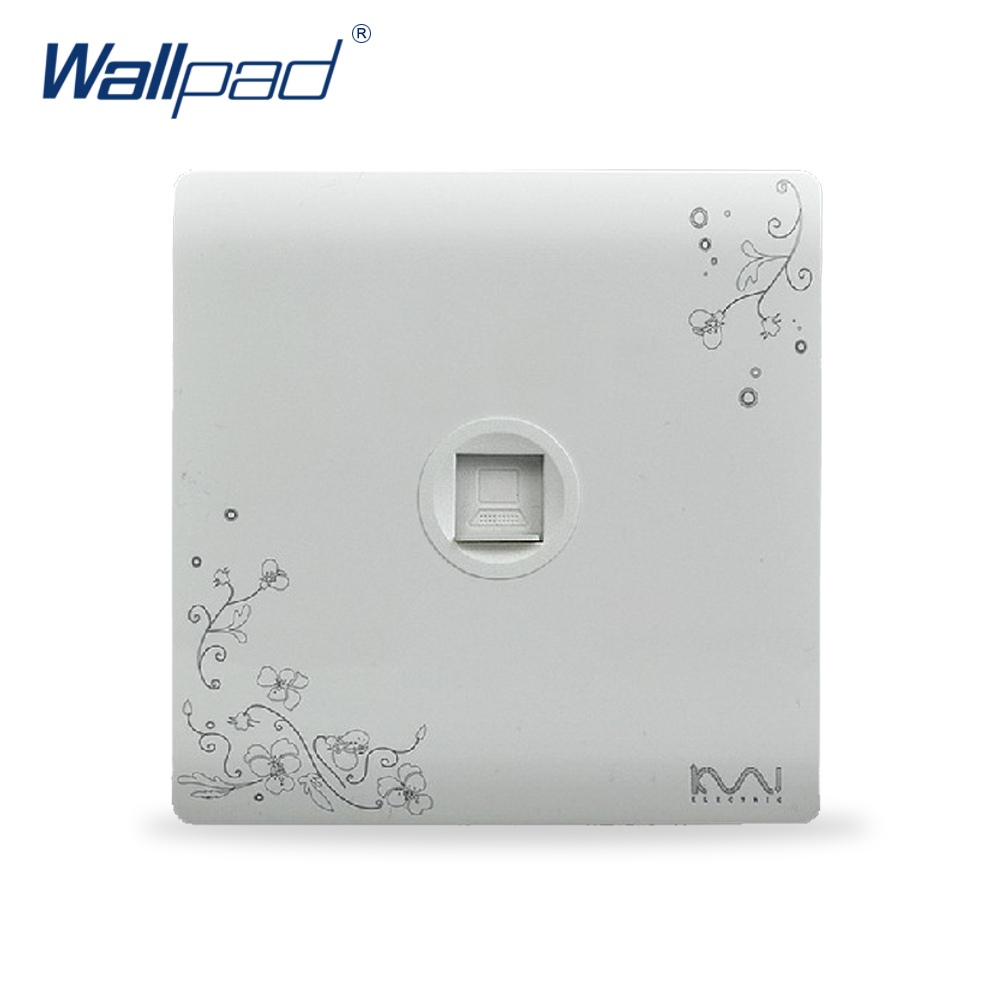 2018 Hot Sale Computer Socket Outlet Wallpad Luxury Wall Switch Panel Socket 86*86mm 10A 110~250V