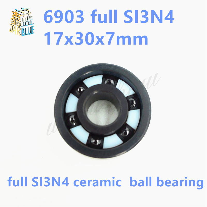 Free shipping 6903 full SI3N4 ceramic deep groove ball bearing 17x30x7mm P5 ABEC5 free shipping 6000 full zro2 ceramic deep groove ball bearing 10x26x8mm p5 abec5