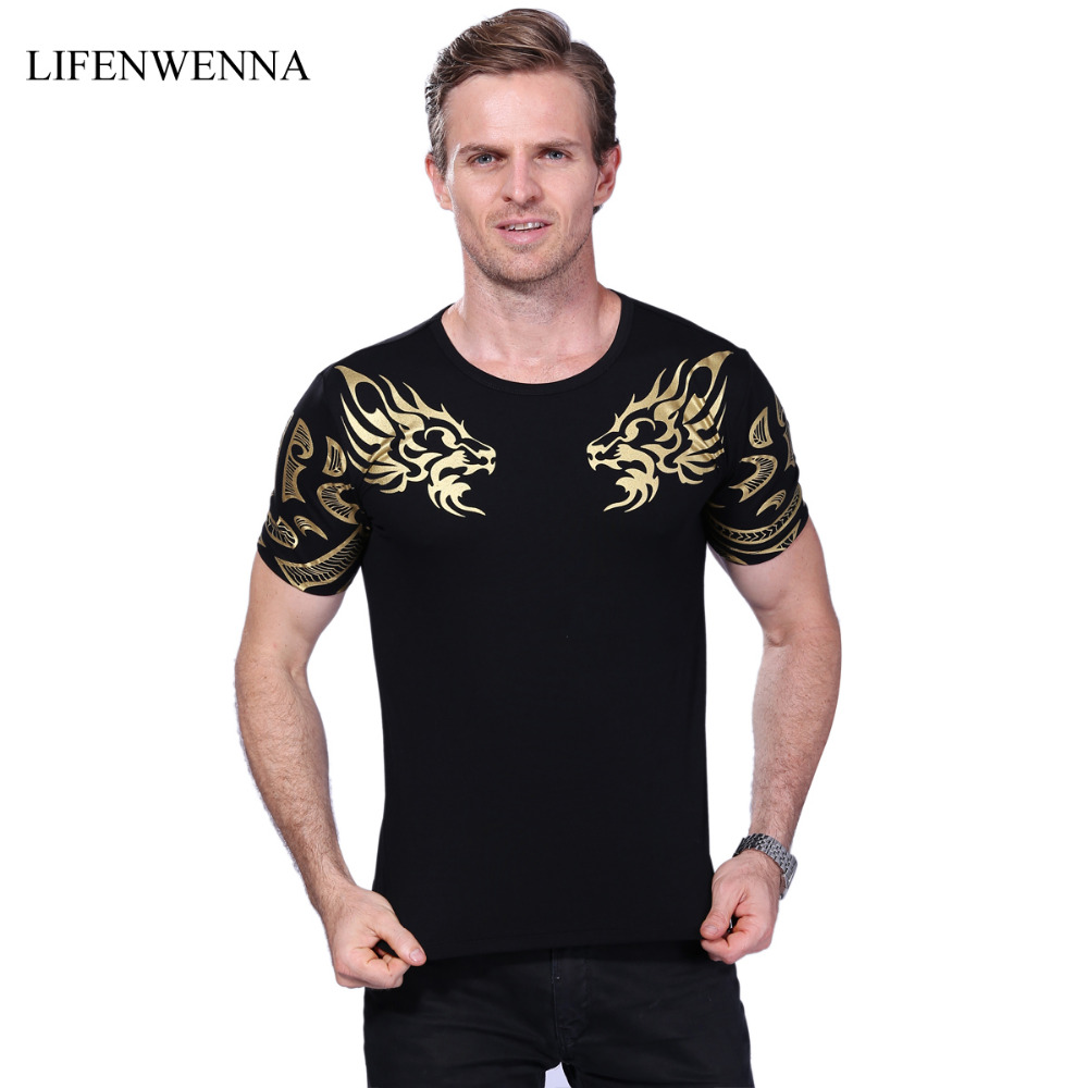 2017 summer new high end men 39 s brand t shirt fashion slim for High end men s shirts