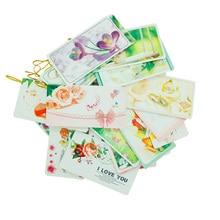 6pcs/pack Romantic Flower Series Kawaii Gilding Small Greeting Cards Creative Postcard Kids Gifts