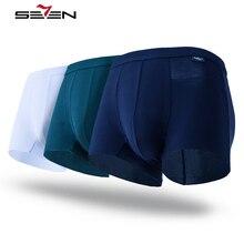 Seven7 Marke Sexy Herren Unterwäsche Tasche Männer Boxer Shorts Baumwolle Männlichen Höschen 3Pcs los Homosexuell Boxer Pant Heiße Unterhosen 5XL 109G40130