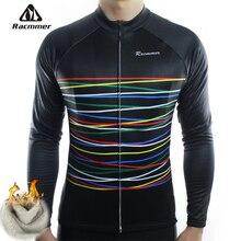 Racmmer Inverno 2020 Lungo Pro Panno Morbido Termico Ciclismo Jersey Uomo Abbigliamento Maillot Bicicletta Equipación Ciclismo Vestiti Bici # ZR 08