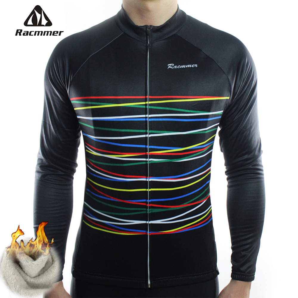 Racmmer Winter 2017 Long Pro Thermal Fleece Cycling Jersey Men Clothing Bicycle Maillot Equipacion Ciclismo Bike Clothes #ZR-08 black thermal fleece cycling clothing winter fleece long adequate quality cycling jersey bicycle clothing cc5081