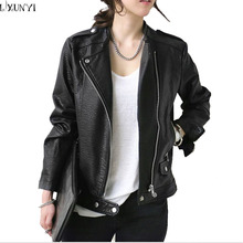 leather jacket Women 2017 Spring Fall Korean Women Short Slim Ladies leather Coat Fashion Casual Handsome Faux leather jacket