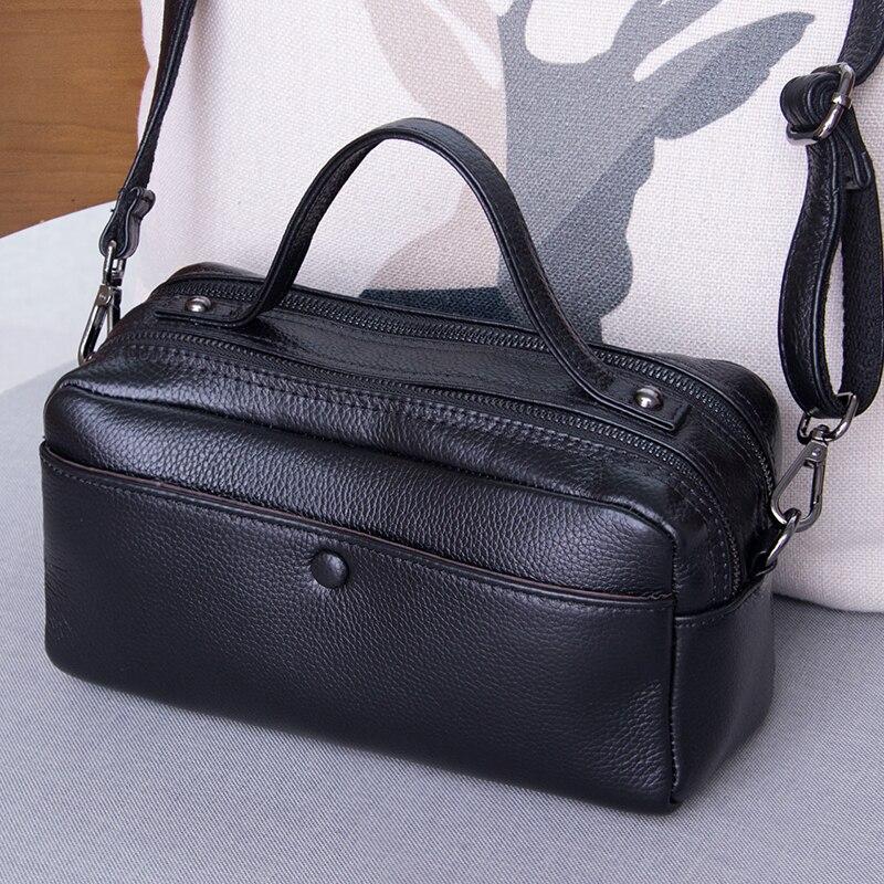 все цены на Genuine Leather Crossbody Bag New Fashion Female Handbag Small Casual Messenger Shoulder Bags For Women Personality Square Bag онлайн