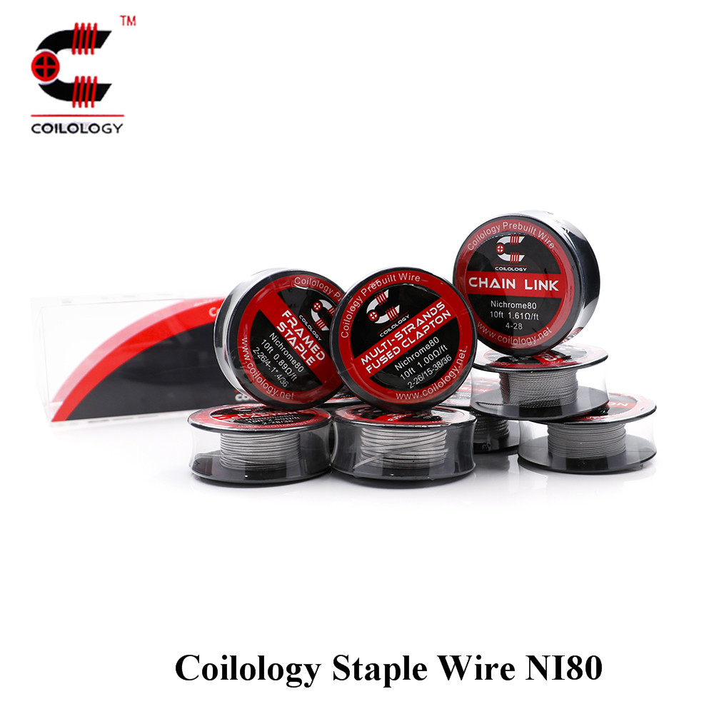 High Quality Coilology Staple Wire NI80 EGO Coils for Electronic Cigarette RDA RBA RDTA DIY Heating Wire Twisted Premade Tools