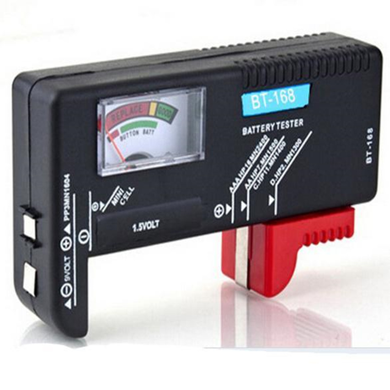 Универсальный тестер батареи aaa aa CD 9V 1,5 V Кнопка батарея Вольт тестер измерительные приборы батарея диагностический инструмент